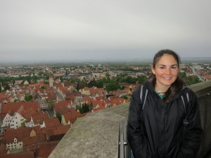 Katie on the tower of St George's Minster