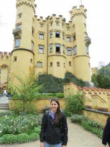 Katie at Hohenschwangau Castle