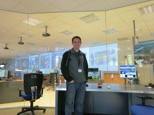 Justin at the ATLAS Control Center