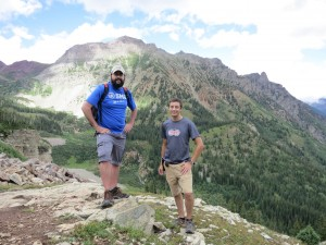 Brian and Ben on our first hike into Maroon Bells-Snowmass Wilderness area