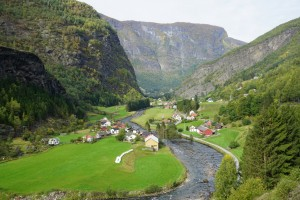 Overlooking Flam valley from the train