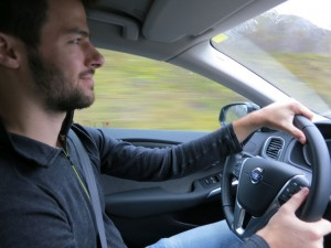 Lyle driving in the Arctic Circle