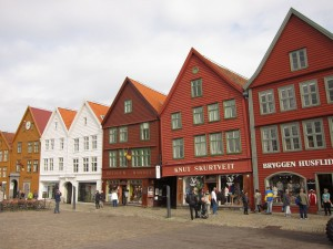 Medieval wharf near downtown Bergen
