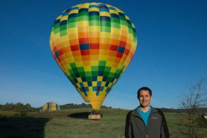 Hot air balloon landed safely