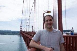 Justin on the north side of Golden Gate Bridge