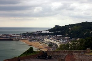 View of Dover and English Channel from the castle